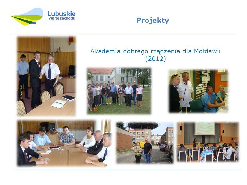 Akademia dobrego rządzenia dla Mołdawii (2012) Projekty