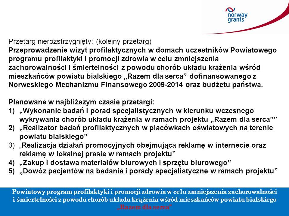 W ramach projektu zostanie przeprowadzone szereg działań w ramach promocji zdrowia skierowanych do wszystkich mieszkańców powiatu ze szczególnym uwzględnieniem dzieci i młodzieży, m.in.:  edukacja zdrowotna dzieci i młodzieży od przedszkoli do szkół ponadgimnazjalnych (wizyty dietetyka i pielęgniarki szkolnej odpowiedzialnej za przeprowadzenie badań w kierunku otyłości u dzieci) Oczekujemy od Wykonawcy na harmonogram szkół, które zostaną zakwalifikowane do projektu !.
