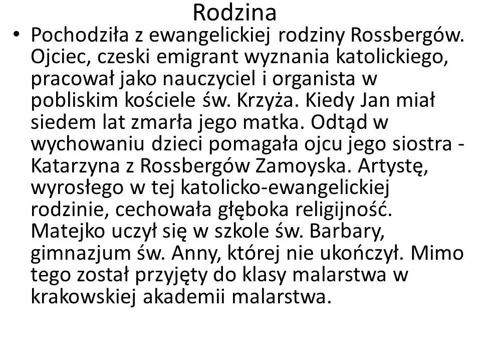 Rodzina Pochodziła z ewangelickiej rodziny Rossbergów. Ojciec, czeski emigrant wyznania katolickiego, pracował jako nauczyciel i organista w pobliskim