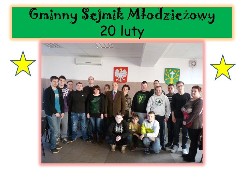 Gminny Sejmik Młodzie ż owy 20 luty