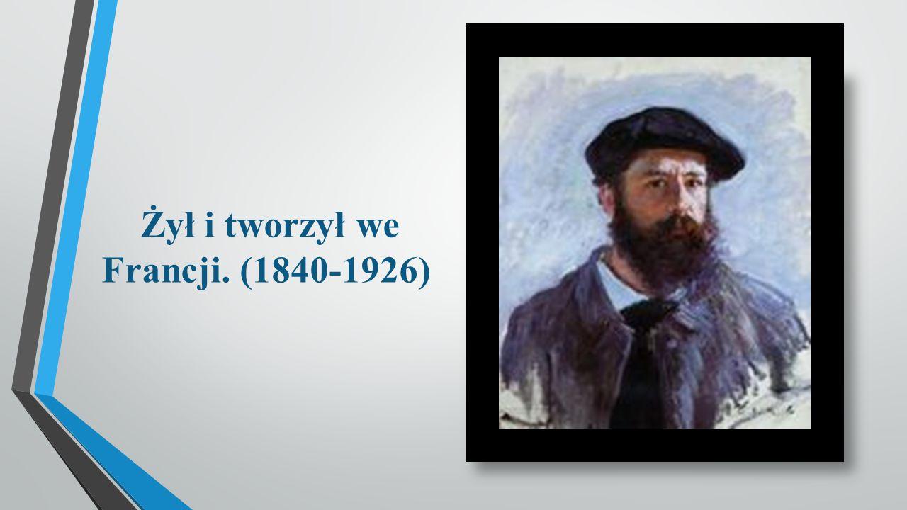 Przedstawienie postaci Claude był znanym francuskim malarzem, jednym z założycieli ruchu impresjonizmu wraz z przyjaciółmi Renoirem, Sisley i Bazillem.