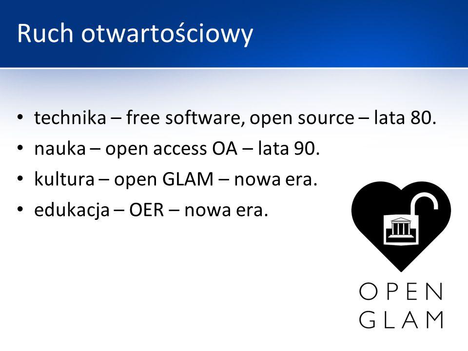 Ruch otwartościowy technika – free software, open source – lata 80.