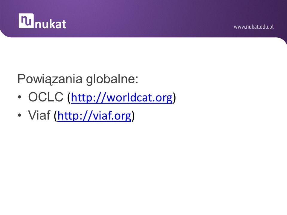 Powiązania globalne: OCLC (http://worldcat.org)http://worldcat.org Viaf (http://viaf.org)http://viaf.org