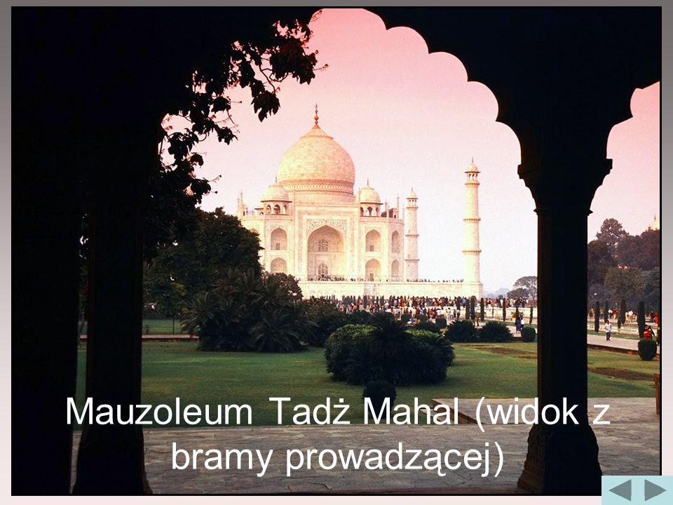 Mauzoleum Tadż Mahal (widok z bramy prowadzącej)