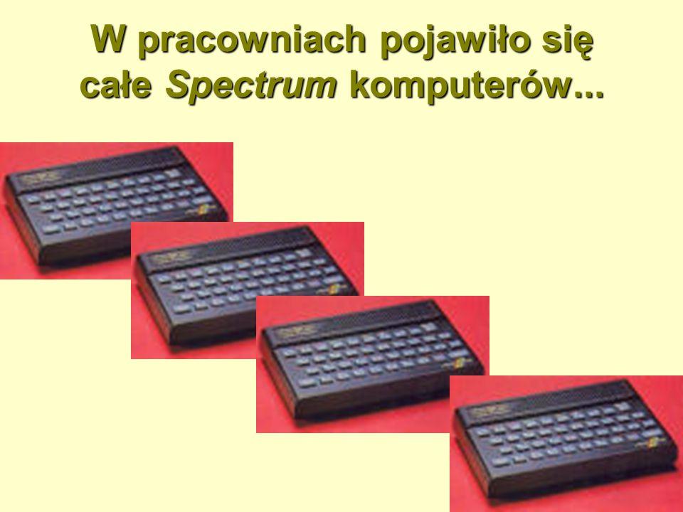 W pracowniach pojawiło się całe Spectrum komputerów...