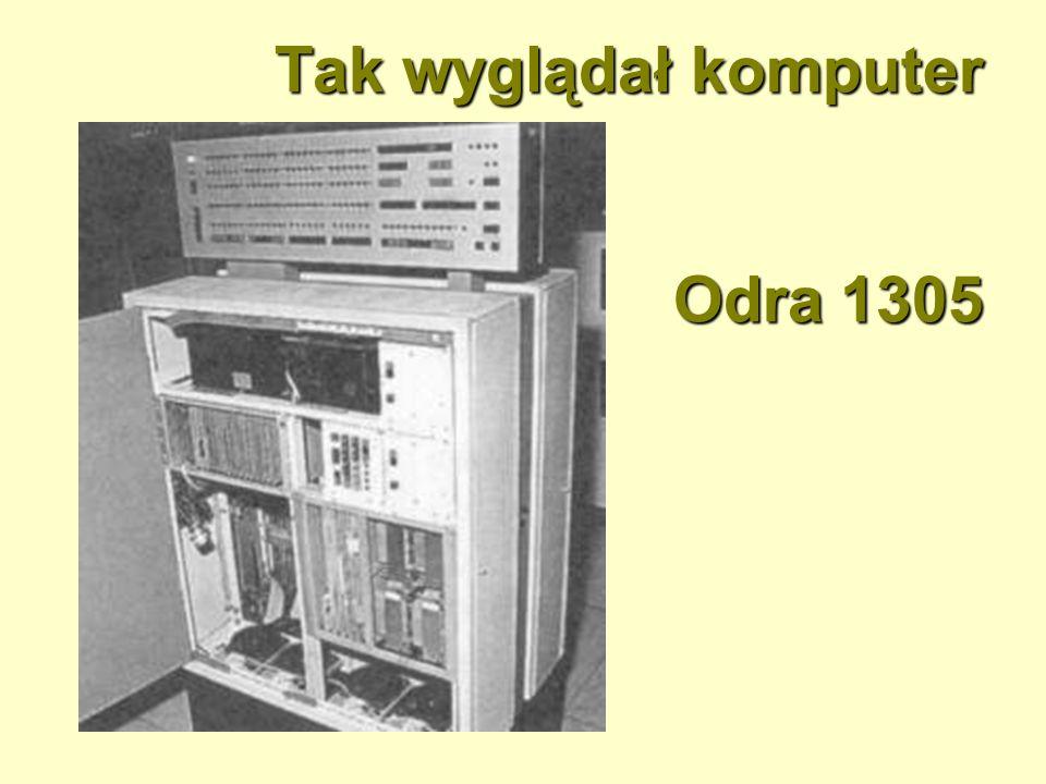 Tak wyglądał komputer Odra 1305