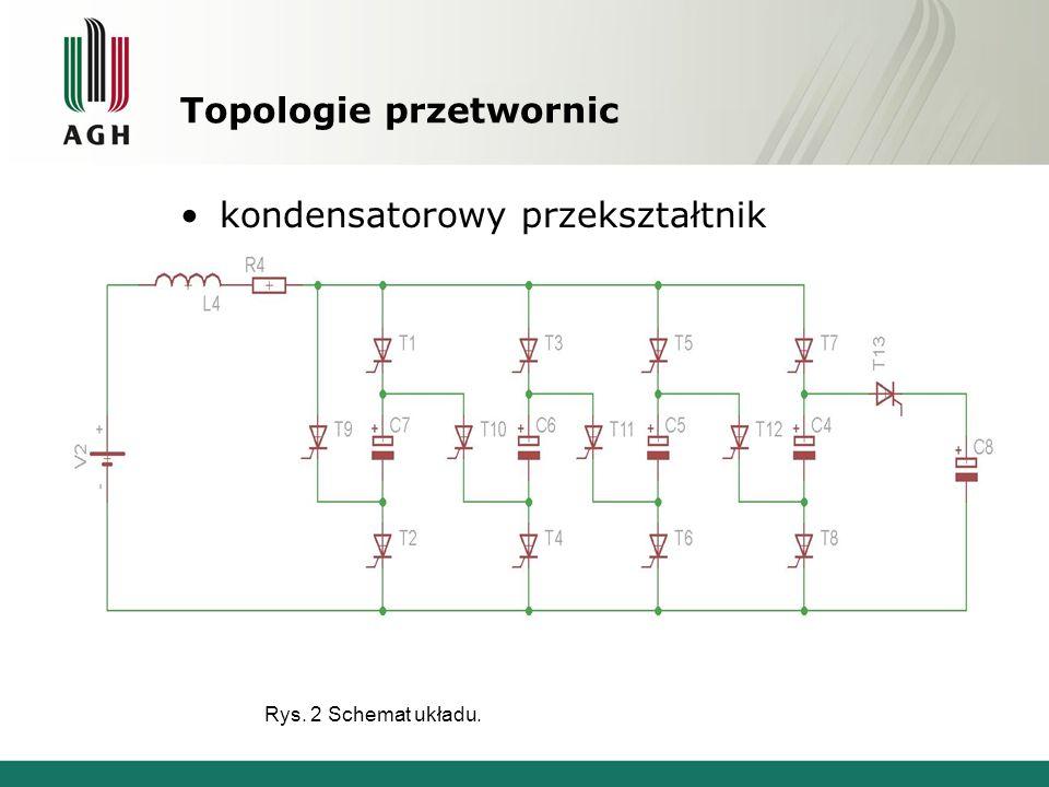 Topologie przetwornic Rys. 2 Schemat układu. kondensatorowy przekształtnik