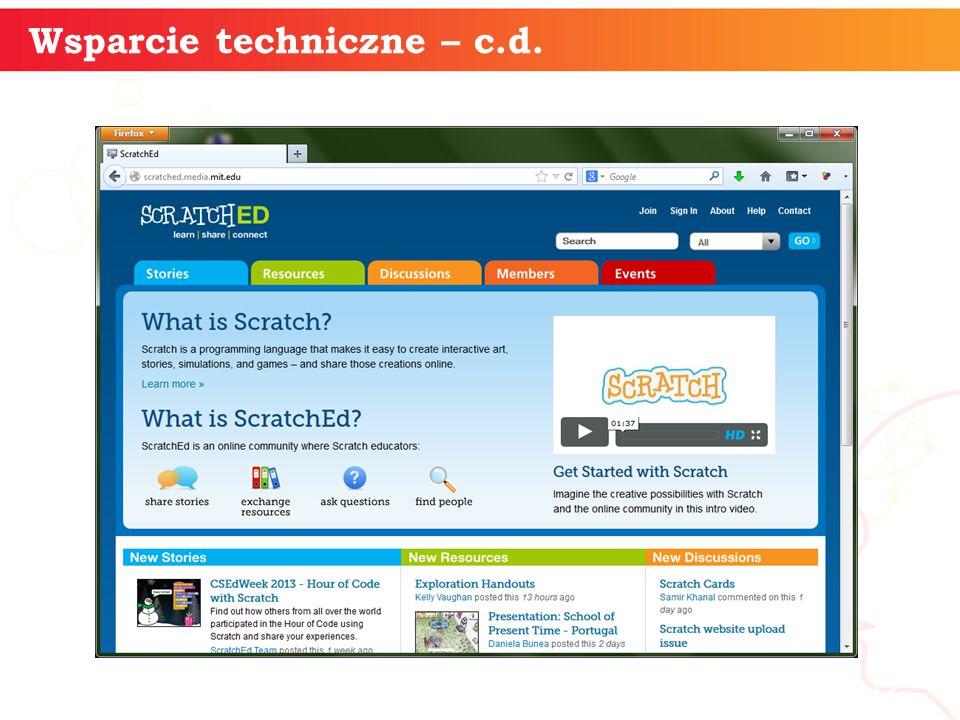 informatyka + 12 Wsparcie techniczne – c.d.