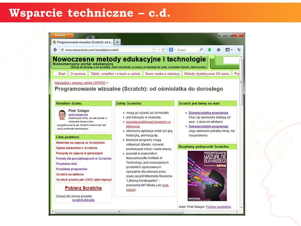 informatyka + 13 Wsparcie techniczne – c.d.