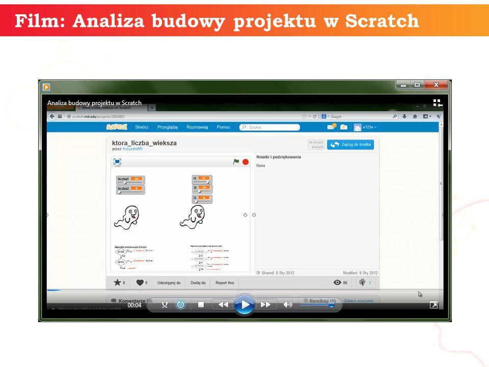 informatyka + 15 Film: Analiza budowy projektu w Scratch