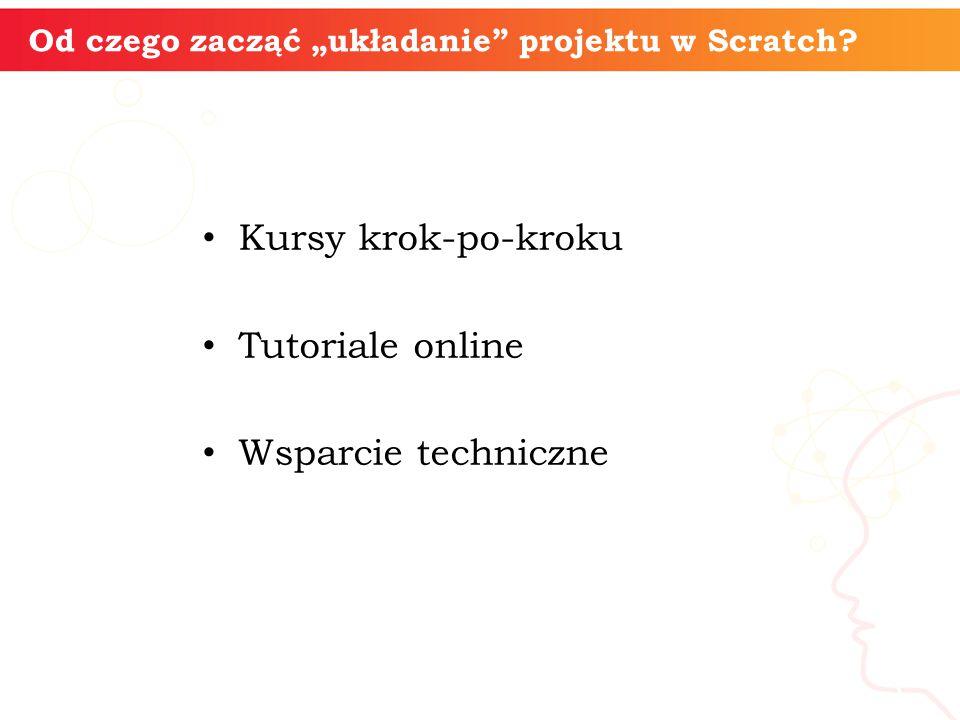 """informatyka + 3 Od czego zacząć """"układanie"""" projektu w Scratch? Kursy krok-po-kroku Tutoriale online Wsparcie techniczne"""