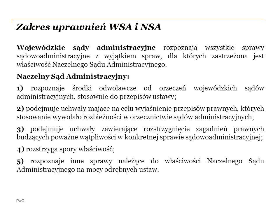 PwC Postępowanie sądowoadministracyjne akt organu podatkowego skarga do Wojewódzkiego Sądu Administracyjnego skarga kasacyjna do Naczelnego Sądu Administracyjnego