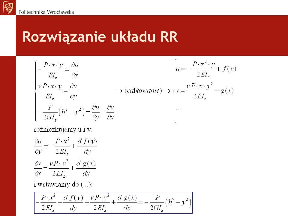 Rozwiązanie układu RR