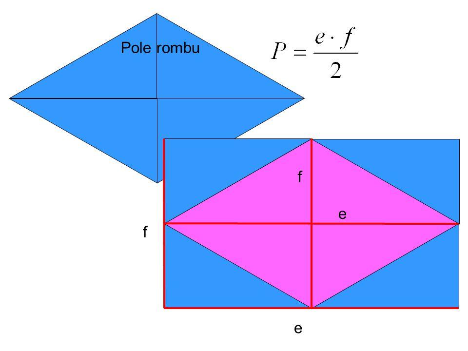 Ćwiczenie 2.Oblicz pola powierzchni rombów przedstawionych na rysunkach: 20cm 8cm 21cm 16cm B.A.