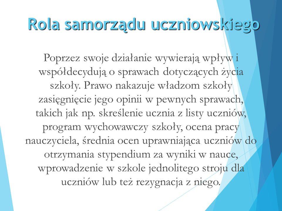 Samorząd jako organizacja demokratyczna Samorząd uczniowski powinien być organizacją demokratyczną.