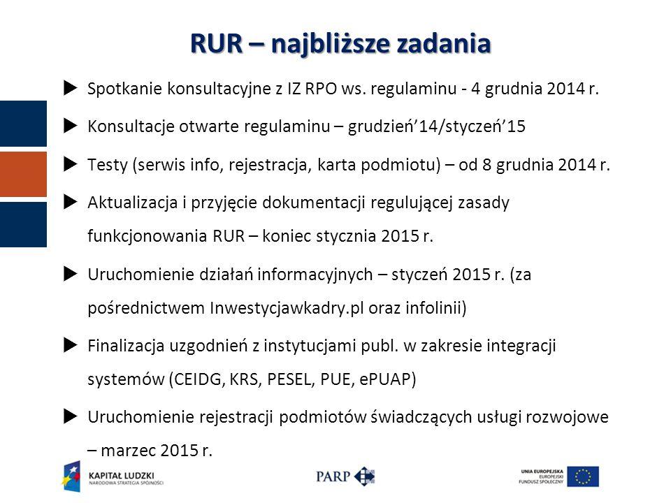  Spotkanie konsultacyjne z IZ RPO ws. regulaminu - 4 grudnia 2014 r.