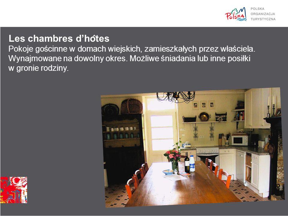 Les chambres d'ho ̂ tes Pokoje gościnne w domach wiejskich, zamieszkałych przez właściela.