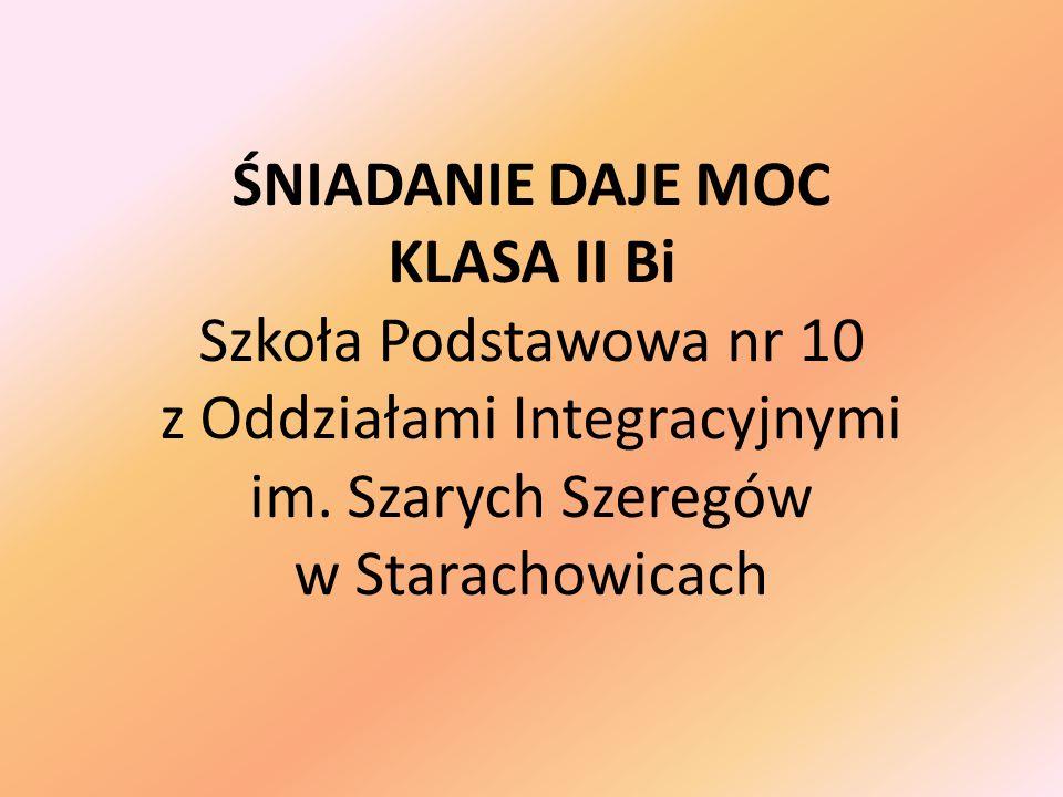 ŚNIADANIE DAJE MOC KLASA II Bi Szkoła Podstawowa nr 10 z Oddziałami Integracyjnymi im.