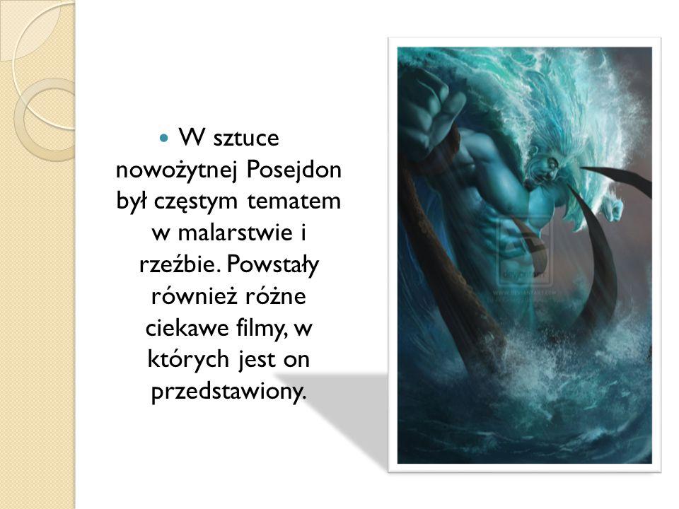 W sztuce nowożytnej Posejdon był częstym tematem w malarstwie i rzeźbie. Powstały również różne ciekawe filmy, w których jest on przedstawiony.