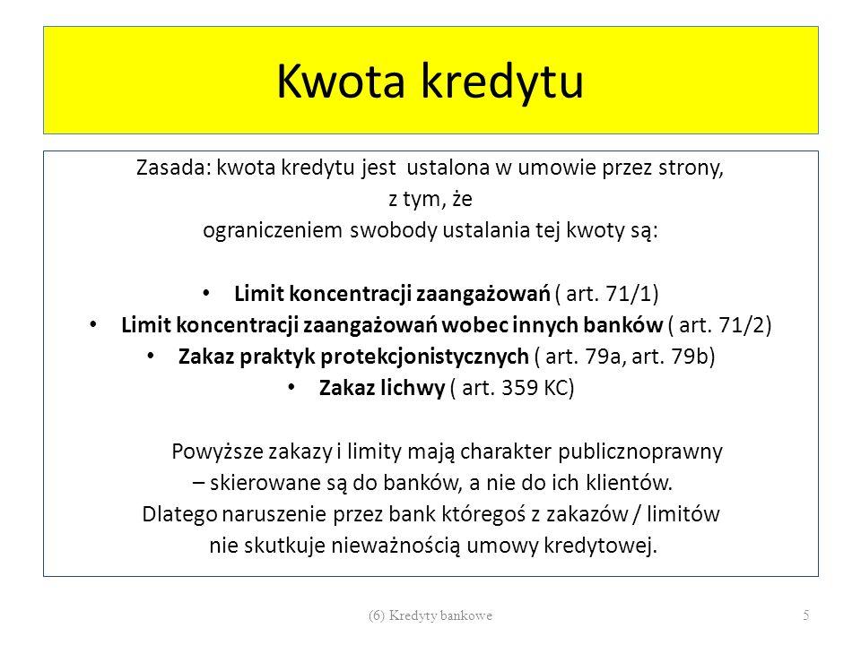 Limity koncentracji zaangażowań PR BANK 71.1.