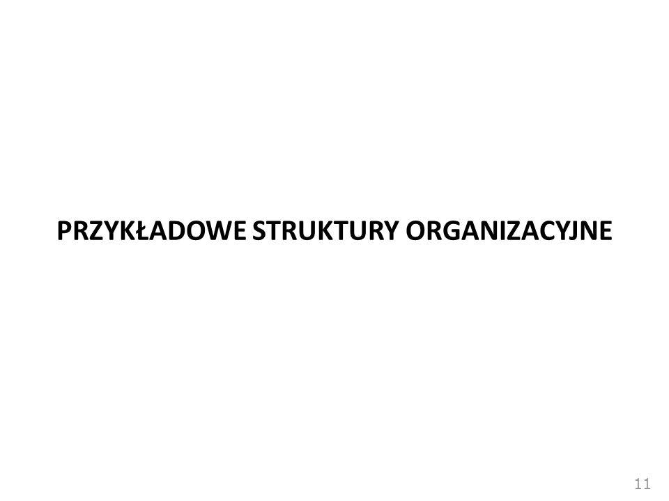 11 PRZYKŁADOWE STRUKTURY ORGANIZACYJNE