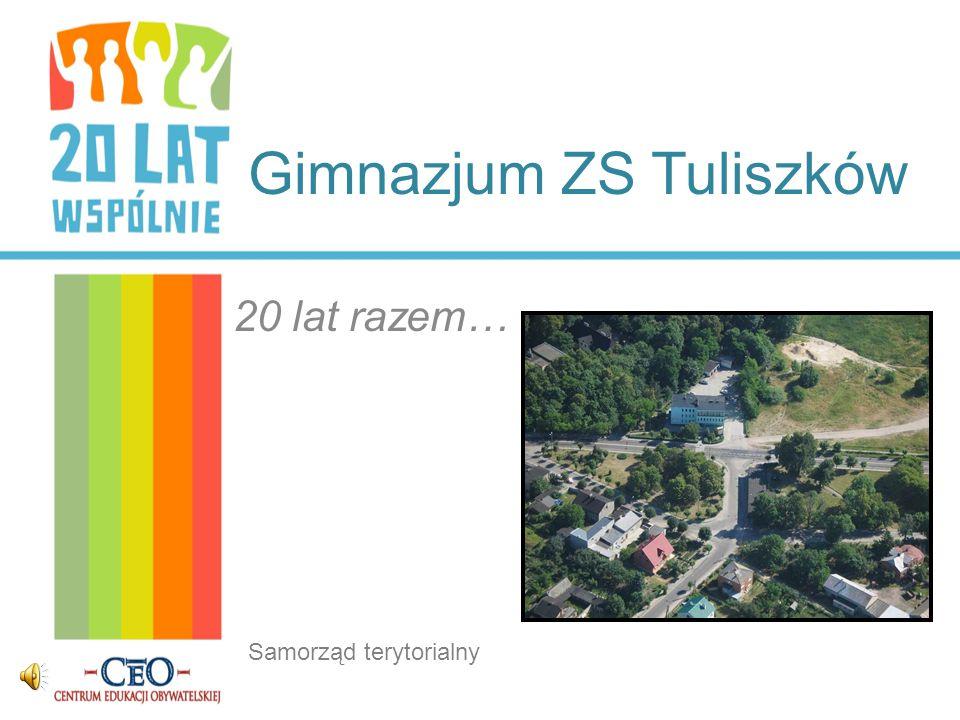 Gimnazjum ZS Tuliszków 20 lat razem… Samorząd terytorialny