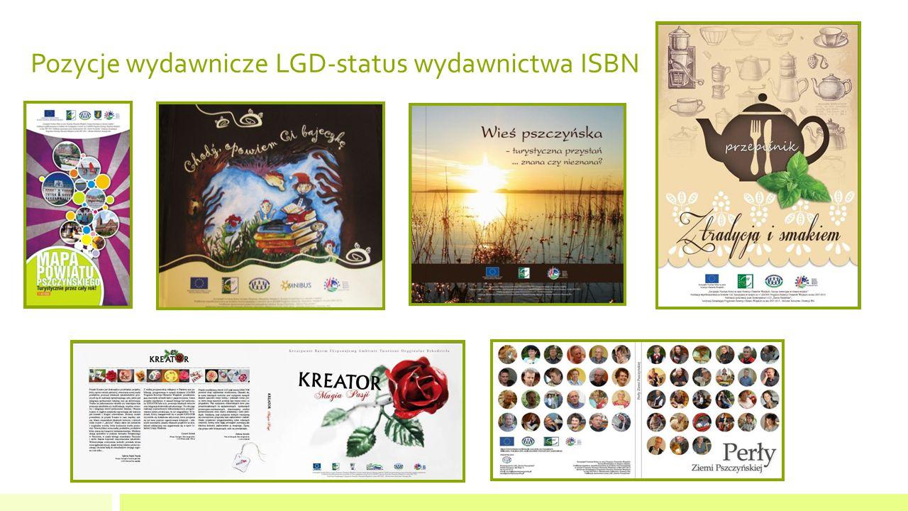 Pozycje wydawnicze LGD-status wydawnictwa ISBN