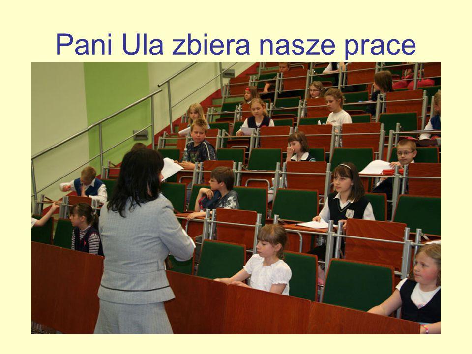 Pani Ula zbiera nasze prace