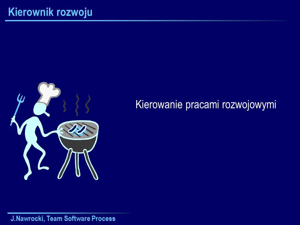 J.Nawrocki, Team Software Process Kierownik rozwoju Kierowanie pracami rozwojowymi
