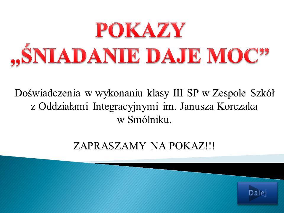 Doświadczenia w wykonaniu klasy III SP w Zespole Szkół z Oddziałami Integracyjnymi im.