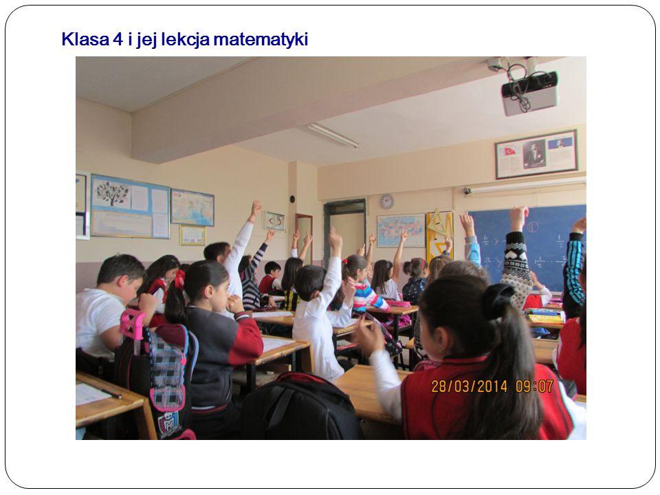 Klasa 4 i jej lekcja matematyki