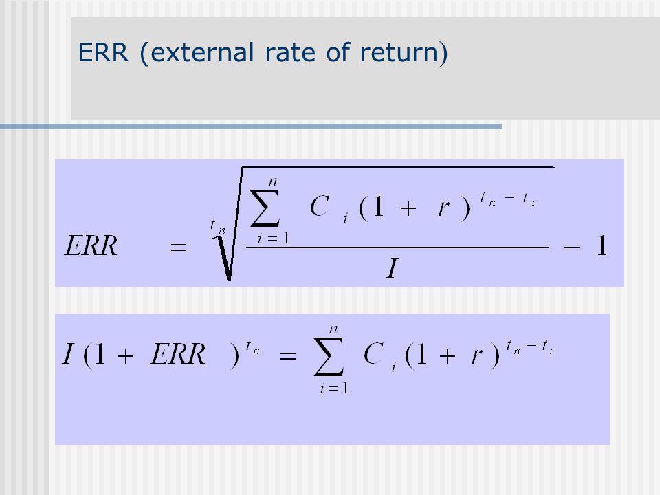 ERR (external rate of return )