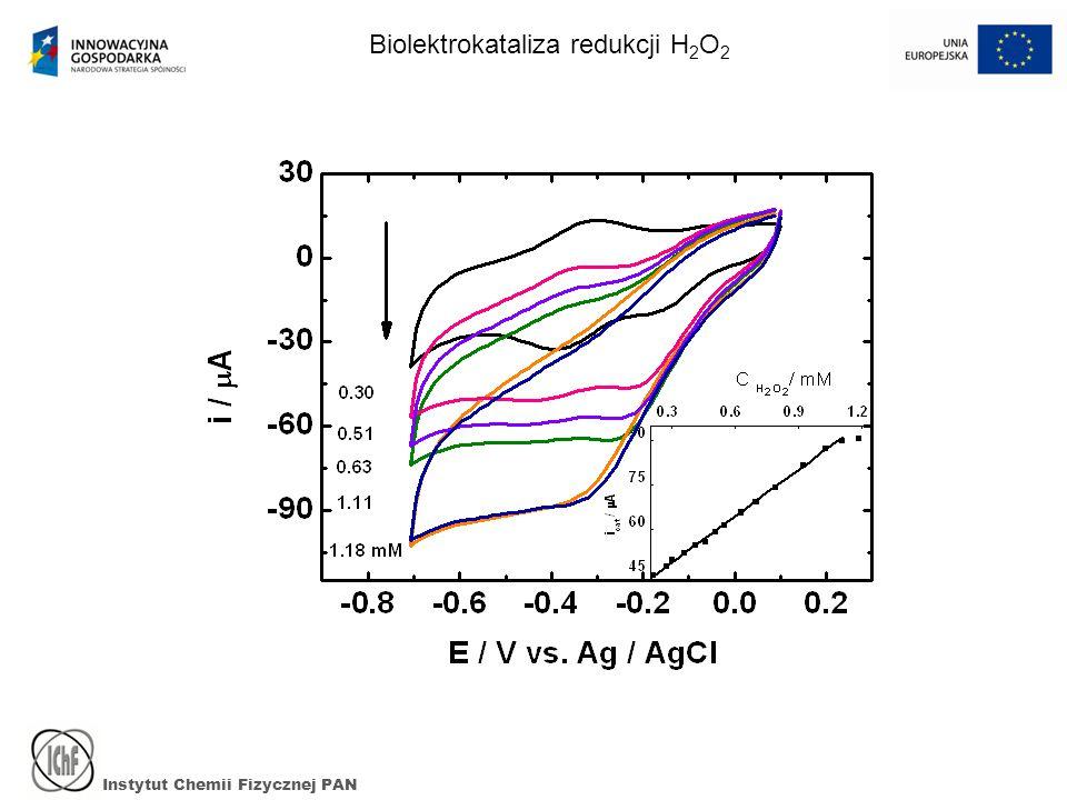 Instytut Chemii Fizycznej PAN Biolektrokataliza redukcji H 2 O 2