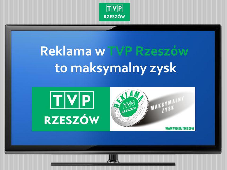 Średnia udziałów SHR% TVP Rzeszów w dniu 1 stycznia 2015 roku Pasmo 18:30 – 19:00 Źródło: Nielsen Audience Measurement Udziały % Na Podkarpaciu z TVP Rzeszów mogą rywalizować tylko największe stacje telewizyjne