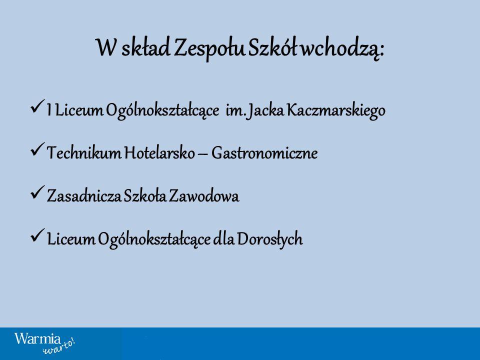 W skład Zespołu Szkół wchodzą: I Liceum Ogólnokształcące im.
