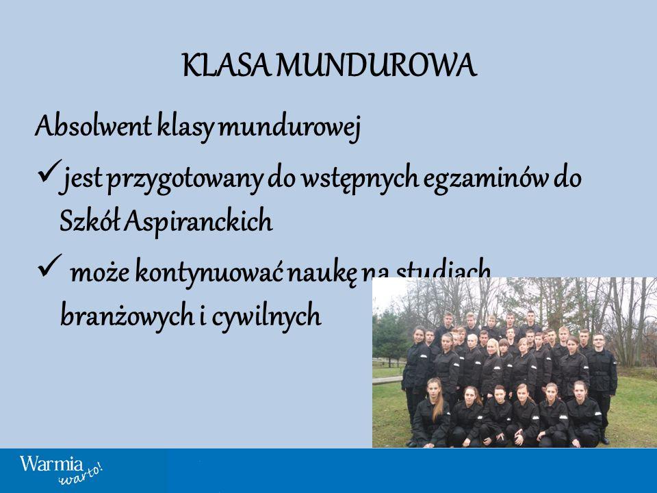 KLASA MUNDUROWA Wspierają Nas: