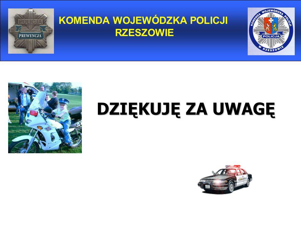 KOMENDA WOJEWÓDZKA POLICJI RZESZOWIE DZIĘKUJĘ ZA UWAGĘ