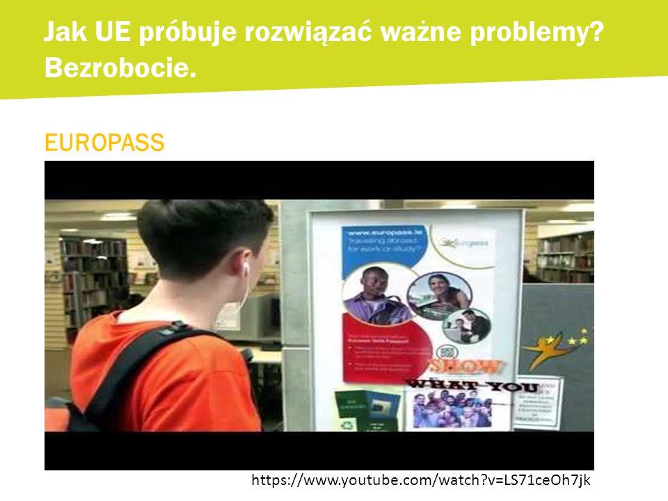EUROPASS Jak UE próbuje rozwiązać ważne problemy. Bezrobocie.