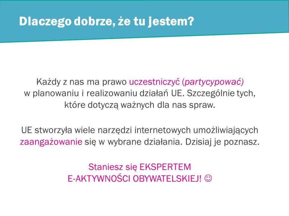 Informacja zwrotna o narzędziach e-Aktywności obywatelskiej