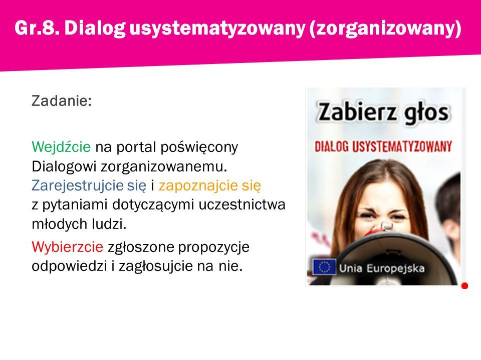 Zadanie: Wejdźcie na portal poświęcony Dialogowi zorganizowanemu.