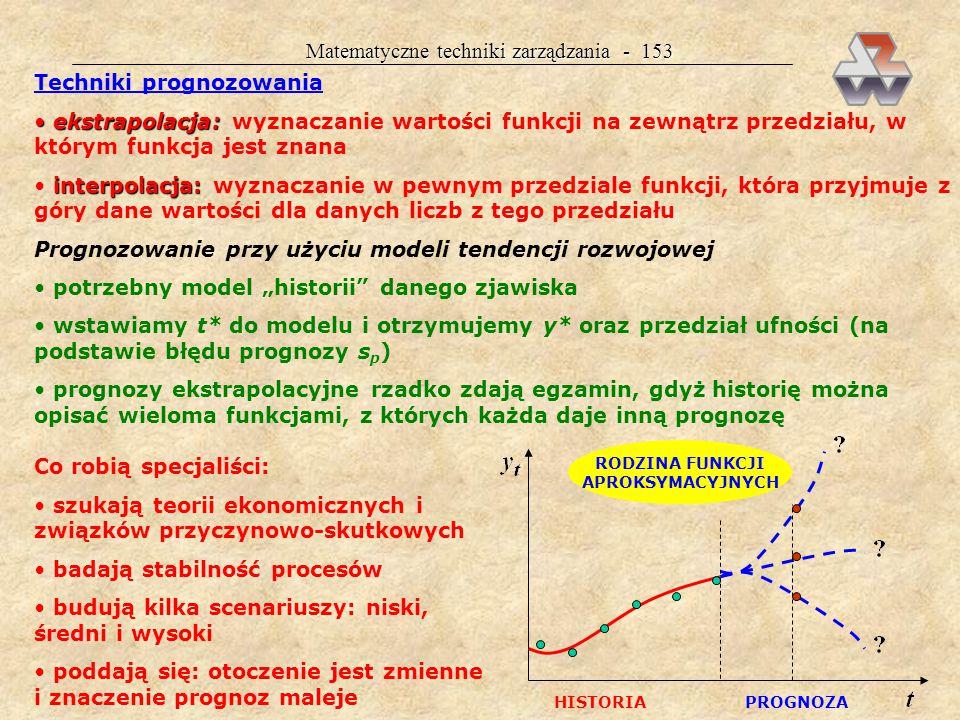 Matematyczne techniki zarządzania - 152 Przykład 36.