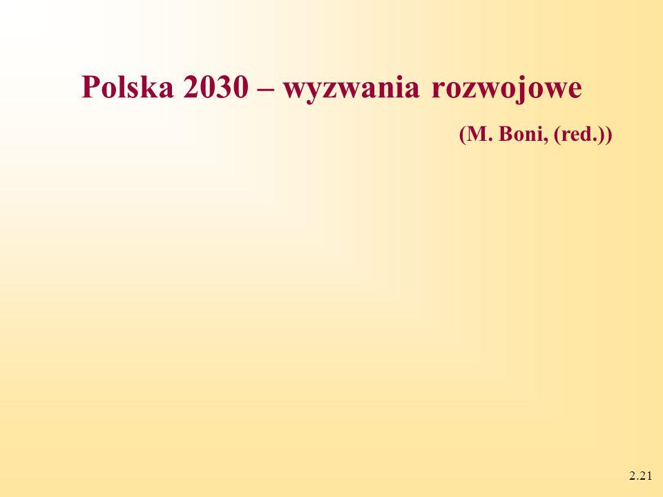 2.21 Polska 2030 – wyzwania rozwojowe (M. Boni, (red.))