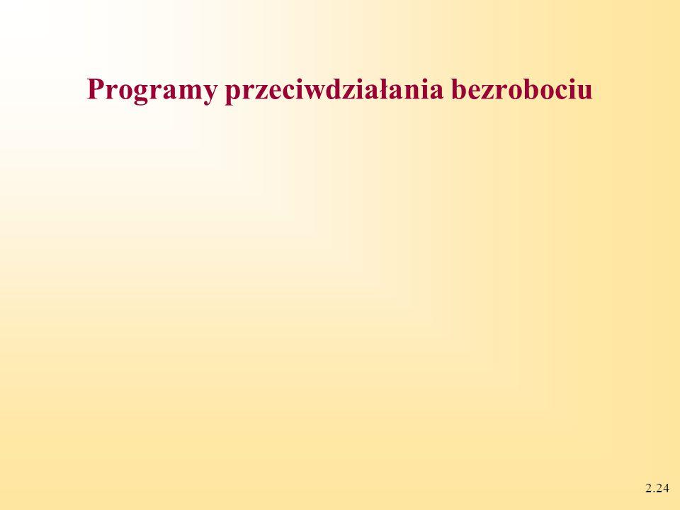 2.24 Programy przeciwdziałania bezrobociu
