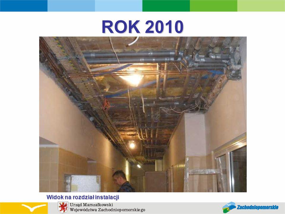 ROK 2010 Widok na rozdział instalacji