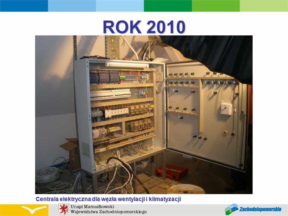 ROK 2010 Centrala elektryczna dla węzła wentylacji i klimatyzacji Centrala elektryczna dla węzła wentylacji i klimatyzacji