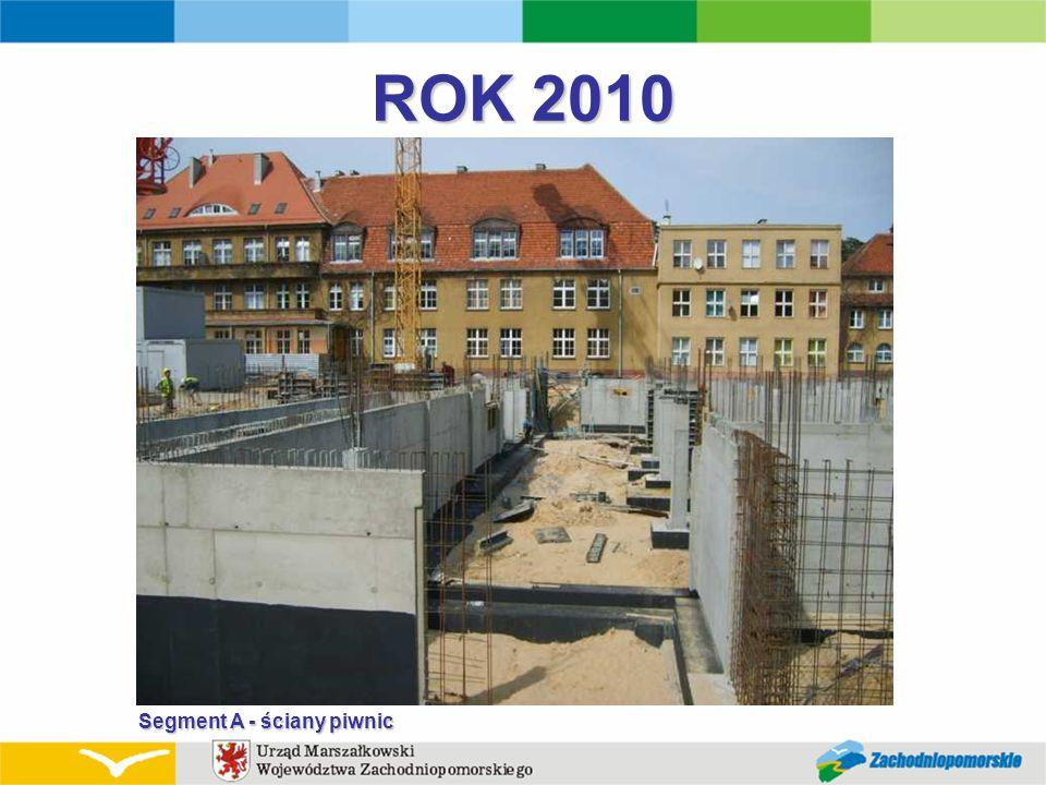 ROK 2010 Segment A - ściany piwnic