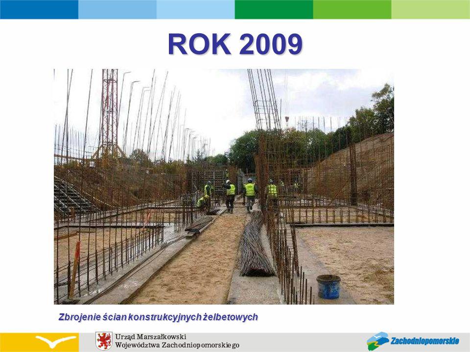 ROK 2009 Zbrojenie ścian konstrukcyjnych żelbetowych