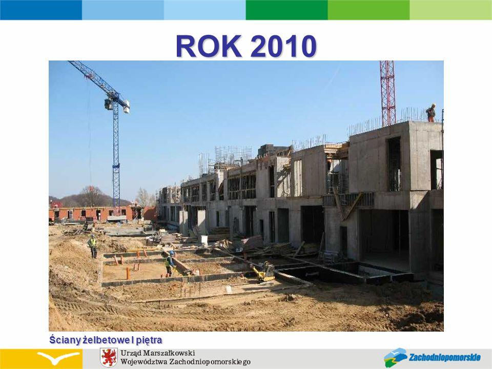 ROK 2010 Ściany żelbetowe I piętra