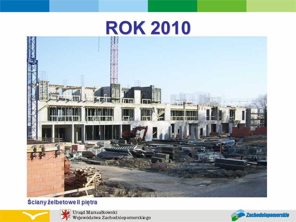ROK 2010 Ściany żelbetowe II piętra