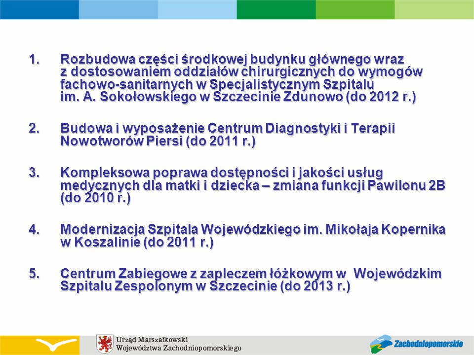 ROK 2010 Postęp robót. Sale noworodków na Oddziale Neonatologii – roboty wykończeniowe